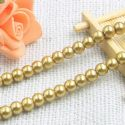 Beads, Glass Imitation pearls, Glass, Gold colour , Round shape, Diameter 8mm, 10 Beads, [BHA0068]